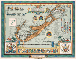 Vintage Map of the Bermudas or Somers Islands Wall Art Poster Decor History - $12.38+