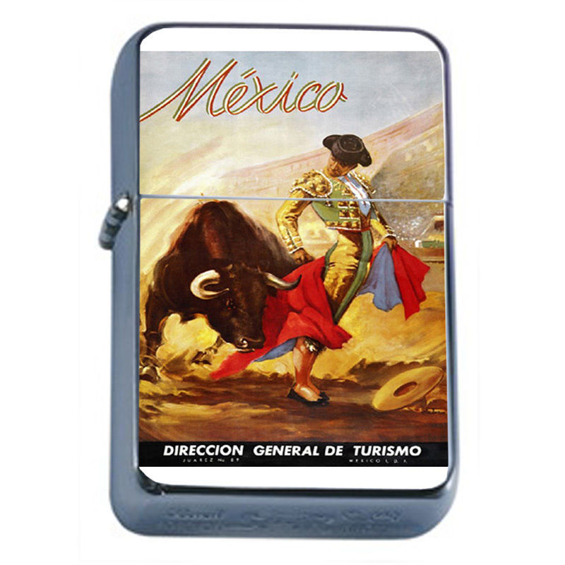 Primary image for Vintage Poster D43 Windproof Dual Flame Torch Lighter Matador Mexico Turismo