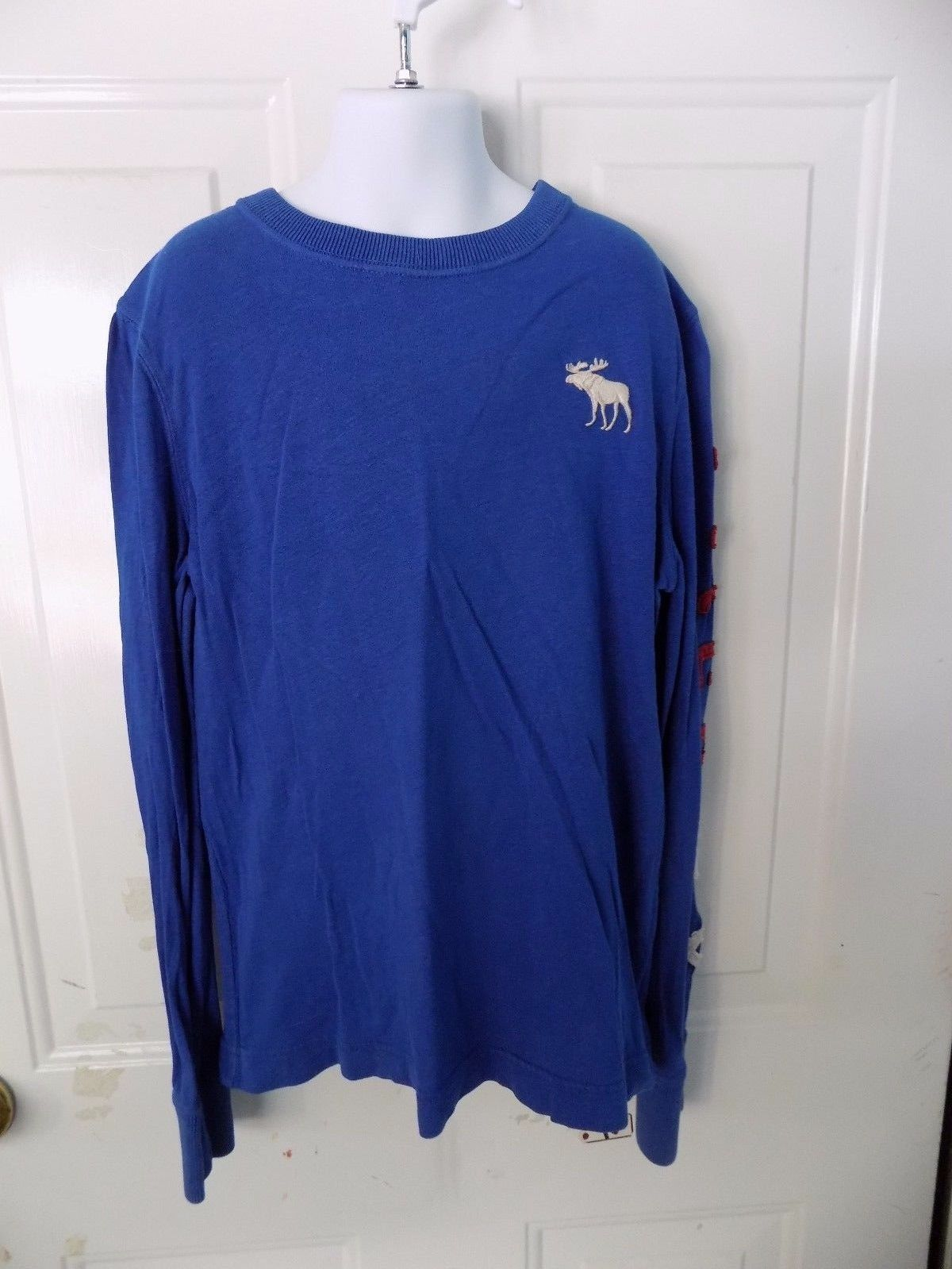 Primary image for Abercrombie & Fitch Blue Long Sleeve Shirt Size S Boy's EUC