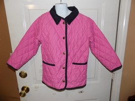 LL Bean Thermore Pink Quilted Barn Jacket Size Medium 5/6 Girl's  EUC - $57.99
