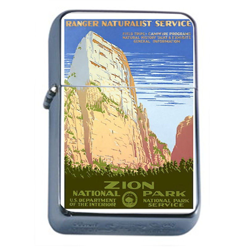 Primary image for Vintage Poster D49 Windproof Dual Torch Lighter 1930's Zion National Park