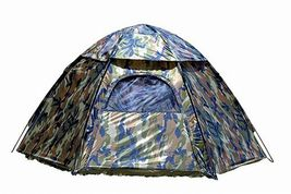 Camping Hexagon Tent Camp Camo Camouflage Gear Army Military Window Easy... - $58.65