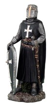 Crusader Knight in Full Shield and Sword Armor Collectible Figurine 11.5... - $39.59