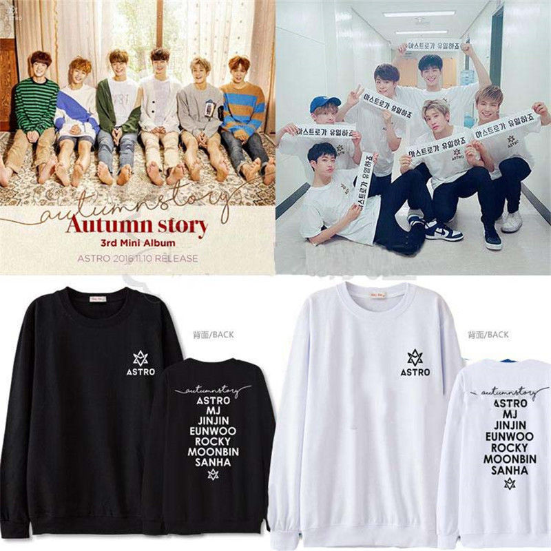 Primary image for Kpop ASTRO Autumn Story Sweater SANHA Hoodie EUNWOO Unisex Sweatershirt Pullover