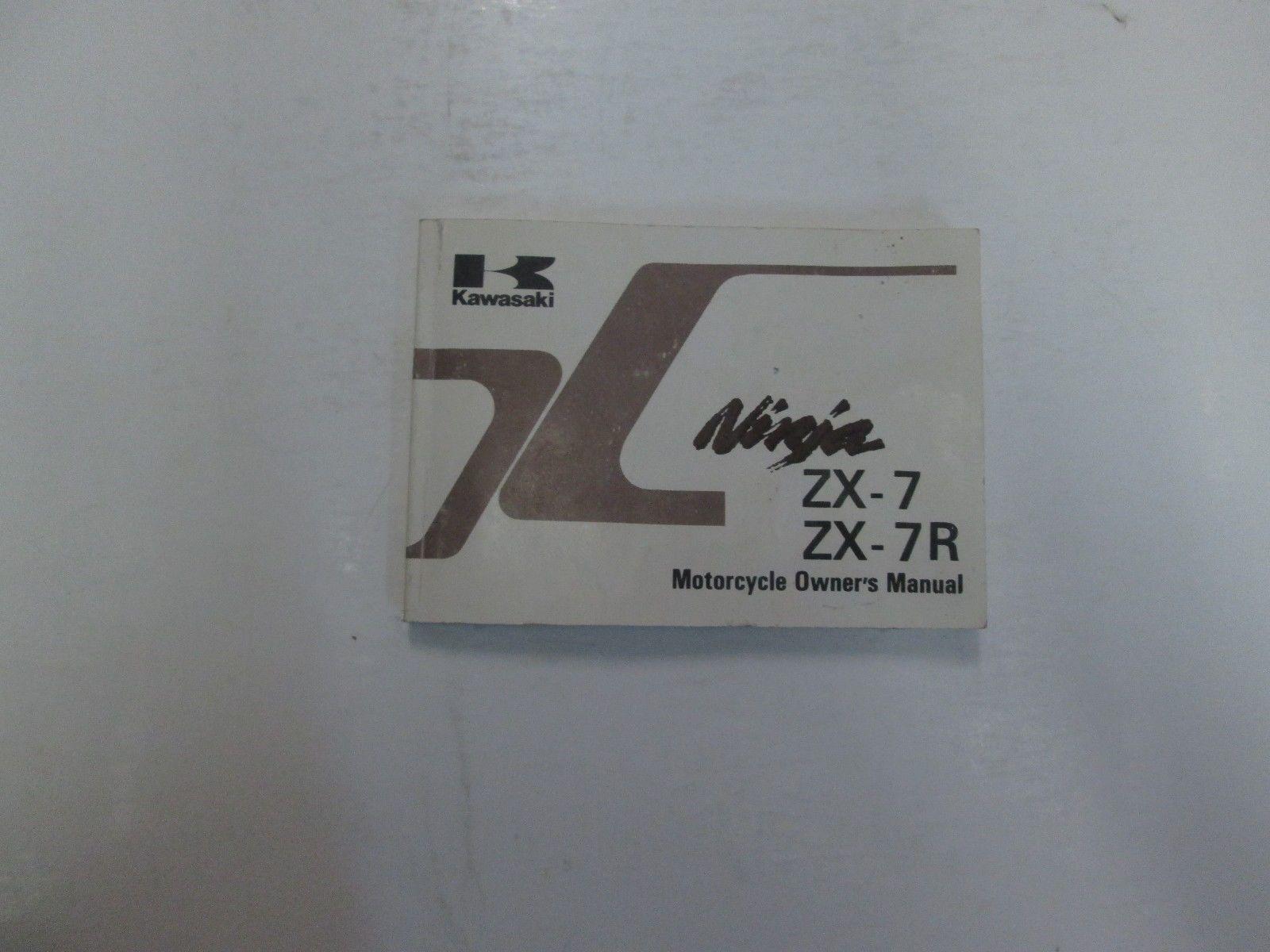 1995 Kawasaki Ninja ZX-7 ZX7 ZX-7R ZX7R Motorcycle Owners Manual WORN FADED  ***