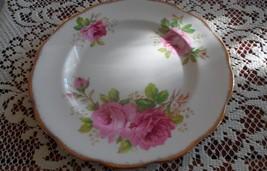 Royal Albert American Beauty Dinner Plate, roses, gold, scallloped edge - $36.62