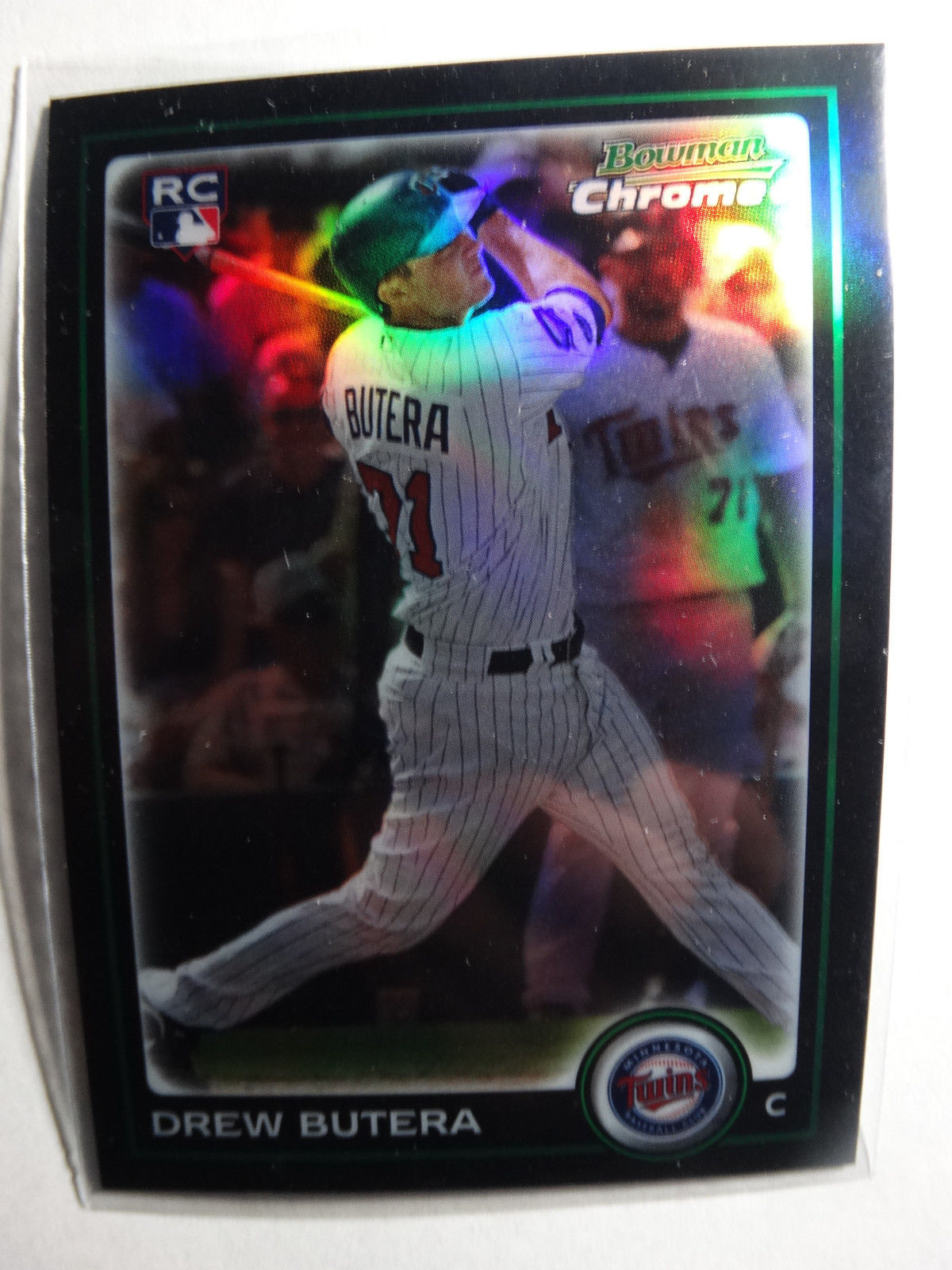 Primary image for 2010 Bowman Chrome #181 Drew Butera Minnesota Twins Refractor Baseball RC Card