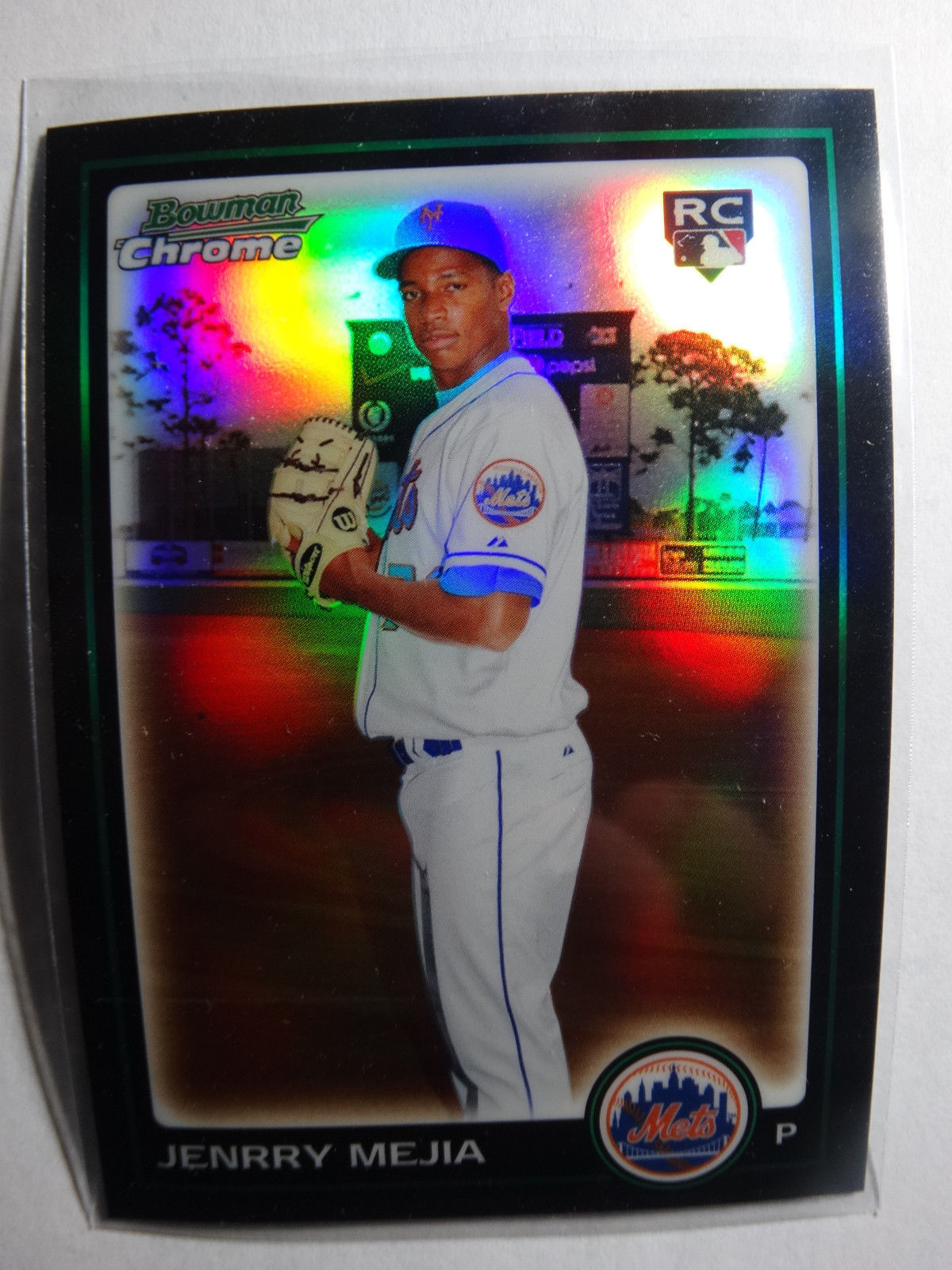 Primary image for 2010 Bowman Chrome #187 Jenrry Mejia New York Mets Refractor Baseball RC Card