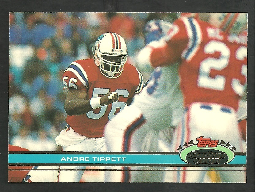 Primary image for New England Patriots Andre Tippett 1991 Topps Stadium Club Football Card 428