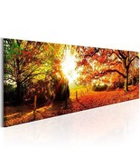 Red Forest Canvas Wall Art Living Room Wall Decor Long Nature Painting L... - $50.02