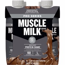 Muscle Milk Pro Series 32 Knockout Chocolate Mega Protein Shake, 11 fl o... - $14.01