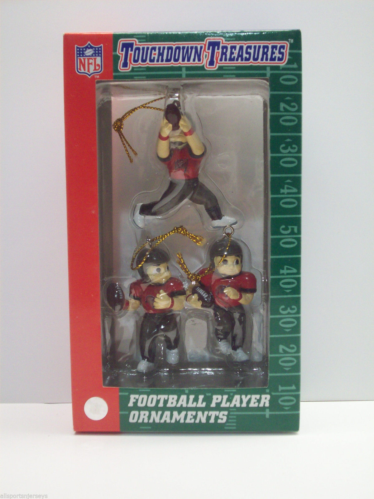 Primary image for NFL Tampa Bay Buccaneers Set of 3 Mini Touchdown Treasures Players Ornaments