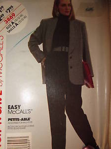 Primary image for 3869 Vintage McCalls SEWING Pattern Misses Easy Lined Jacket Pull On Pants OOP