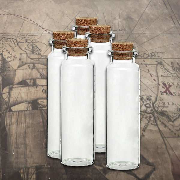 "Primary image for Glass Vial Jar Cylinder with Cork 80mm/3.15"" 1pc Apothecary Potion Lab 18mL"