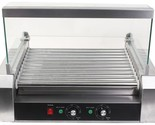 New 30 Hot Dog 11 Roller Grill Cooker Commercial Grilling Machine With Cover