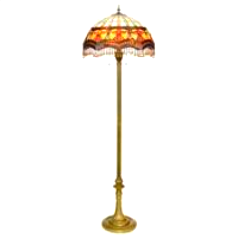 Primary image for Victorian Parlor Tiffany-Style Stained Glass Floor Lamp