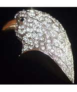 AMERICAN EAGLE Crystal Gold Plated Vintage BROO... - $65.00
