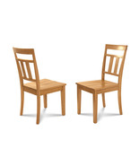 SET OF 6 KITCHEN DINING SIDE CHAIRS w/ WOODEN SEAT IN  OAK FINISH - $382.42
