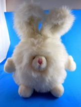 "Russ Poofie Sparkling White Easter Bunny Rabbit Plush  12"" - $9.94"