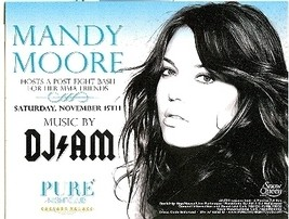 Mandy Moore & DJ AM Host a Post Fight Bash Promo Card - $2.95