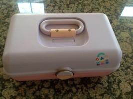 VTG 80's CABOODLES Pink/Purple 3 Tier MakeUp Ca... - $37.39