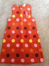 Gymboree Girl's Dress Purrfect Autumn Fall for Monkeys Orange Polka Dots... - $18.69