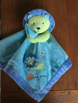 Carters Just One Year Lion Hug Me Blue Green ba... - $18.68