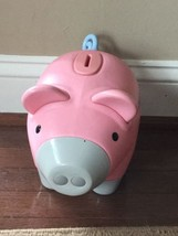 Little Tikes Tykes Vintage Pink Child's Piggy Pig Coin Bank Stopper - $18.69