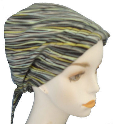 Primary image for English Traditions Chemo Scarf Stripe Alopecia Cancer Hat Hair Loss Head Turban