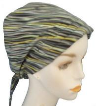 English Traditions Chemo Scarf Stripe Alopecia Cancer Hat Hair Loss Head Turban - $16.95