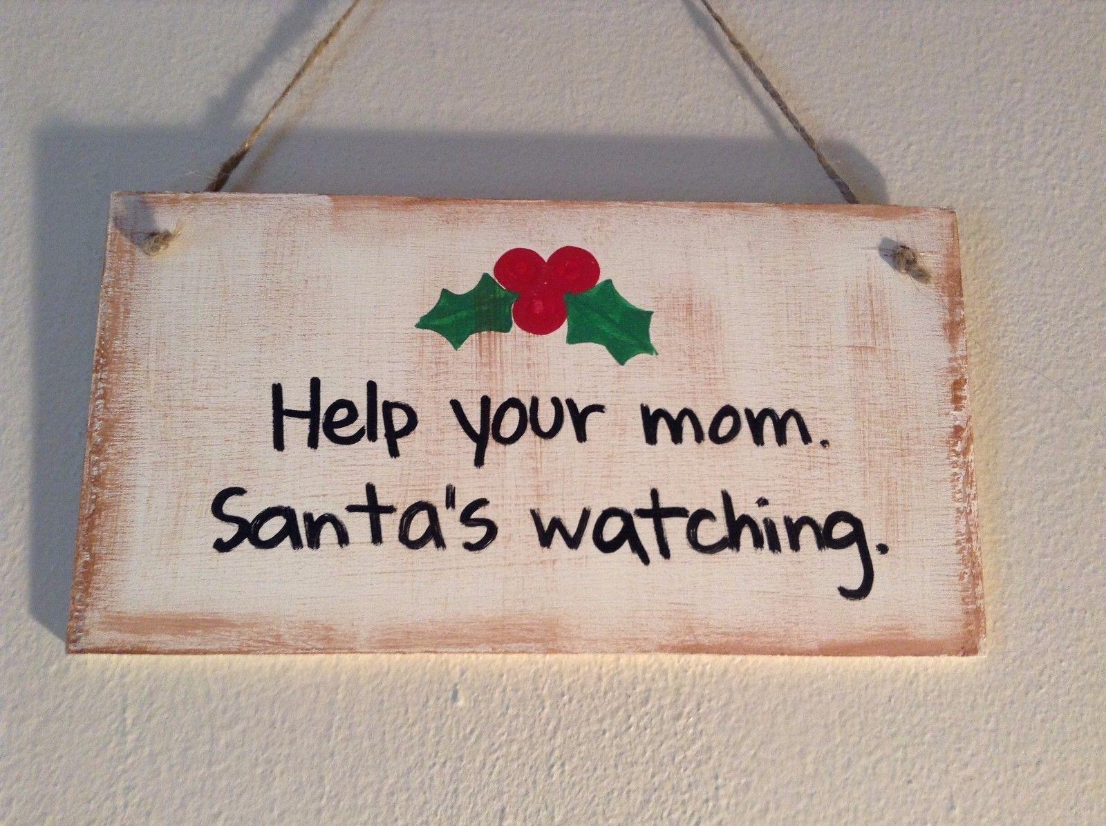 Elf Works Lane Satellite Workshop Custom Sign Help Your Mom Santas Watching