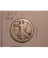 1917 S Liberty Walking Half Dollar About Good C... - $5.69