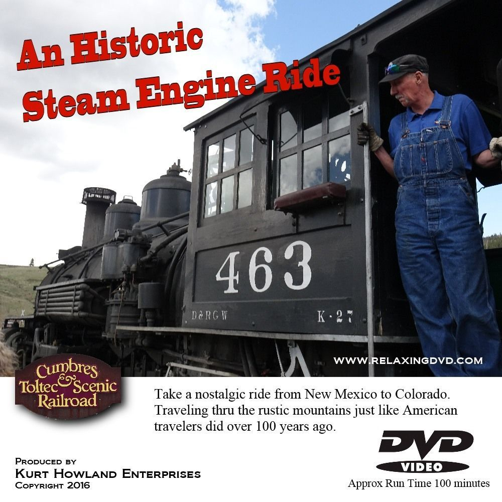 Primary image for Historic Steam Engine Train Ride of the Old West, Take a Virtual Trip & Relax.