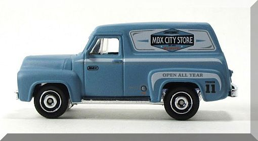 Matchbox - '55 Ford F-100 Delivery Truck: MBX Adventure City #17/125 (2017)
