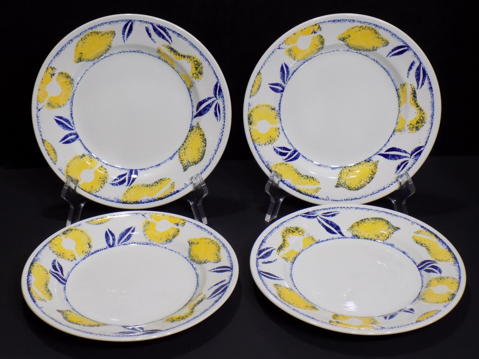 "Primary image for Set of 4 HTF ROYAL WESSEX RWx4 Yellow Fruit Pear / Lemon 8"" Salad Plates England"