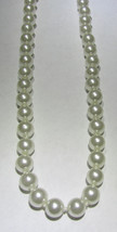 Costume Fashion Jewelry Pearl New Necklace 8mm Beads 16in Knotted Nice C... - $7.95