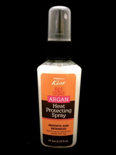 RED BY KISS ARGAN HEAT PROTECTING SPRAY FOR NATURAL HAIR, WEAVES AND WIGS 2oz