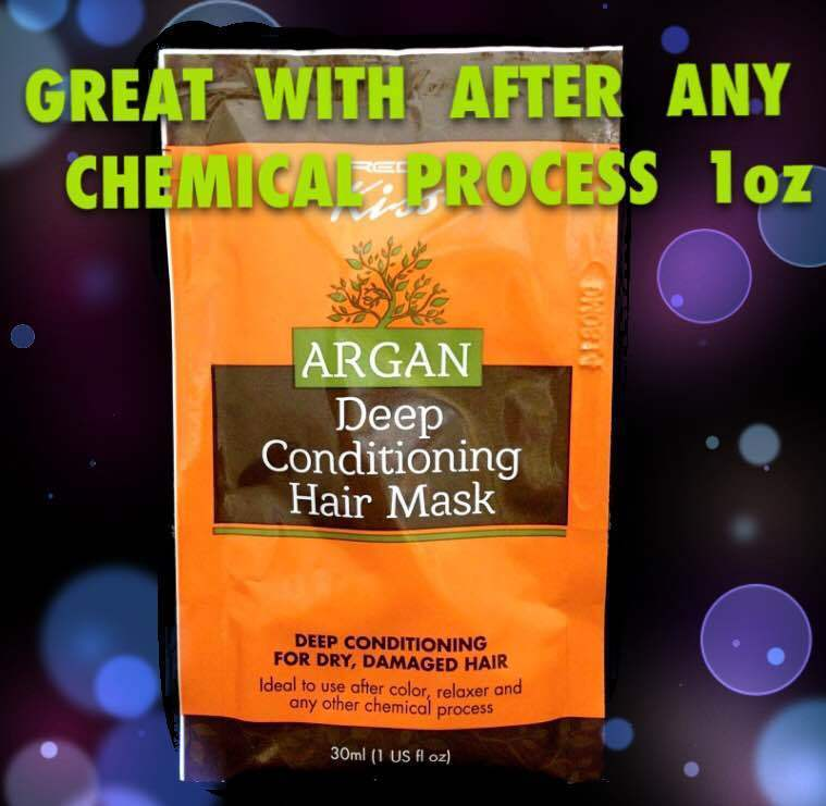 KISS ARGAN DEEP CONDITIONING HAIR MASK FOR DRY DAMAGED HAIR 1oz