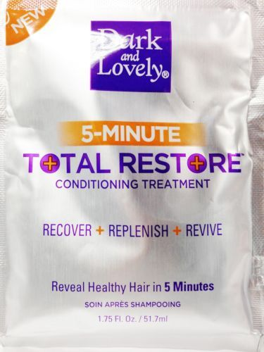 DARK AND LOVELY 5 MINUTE TOTAL RESTORE CONDITIONING TREATMENT 1.75oz REVIVE