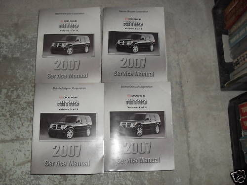 2007 DODGE NITRO Service Shop Repair Workshop Manual Set OEM FACTORY
