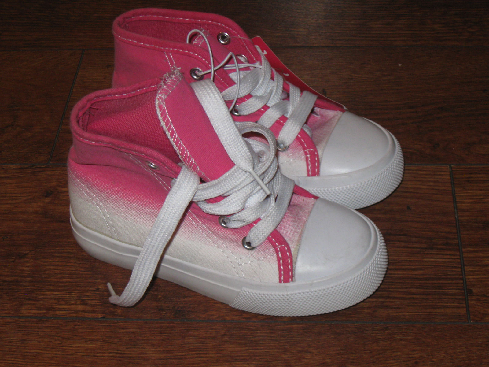 Primary image for Sz 9 Kids Girls Boys Canvas Pink Gradient CUTE!!! Sneakers Shoes Casual  Lace-up