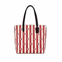 Coach Women's Tote with Stripe Star Print Handbag