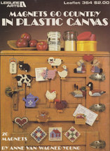 Magnets Go Country, Plastic Canvas Pattern Booklet LA 364 Fridgies Motif... - $2.95