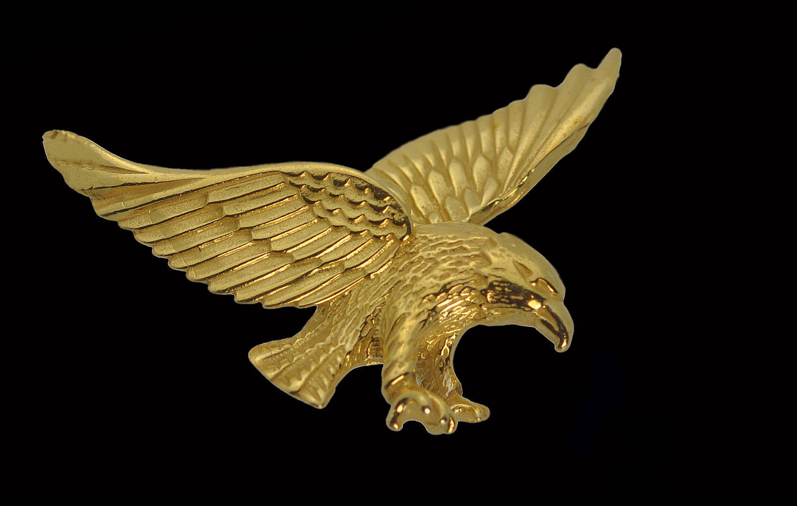 Primary image for Bald Eagle 24K Gold Pltd bird military Patriotic Charm courage strength Jewelry