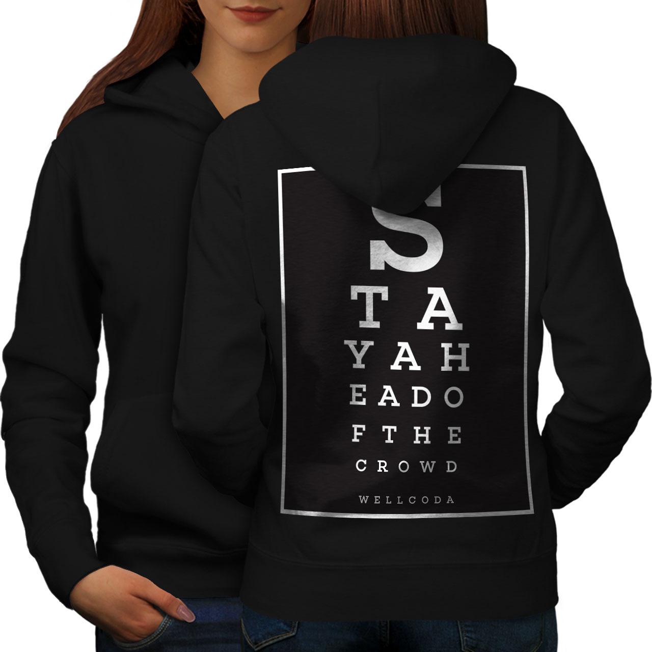 Letter Unique Wellcoda Sweatshirt Hoody Eye Health Women Hoodie Back - $21.99 - $22.99