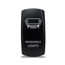 CH4x4 Rocker Switch Jeep Windshield Lights Symbol - Green LED - $16.44