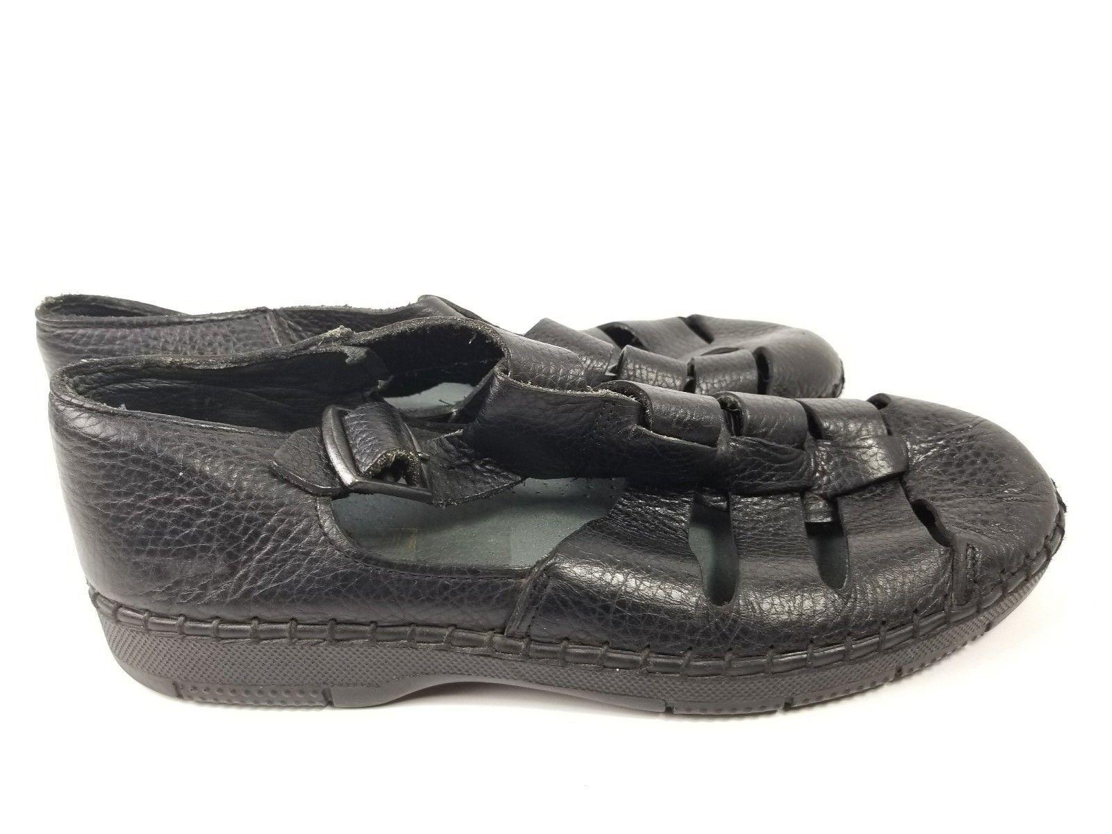 Mens Dexter Comfort DexFlex Sandals Black Size 8.5 Shoes