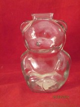 ANCHOR HOCKING VINTAGE GLASS BEAR BANK - $12.50