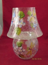 CRYSTAL CLEAR TEA LIGHT HOLDER WITH MATCHING SHADE - $20.00