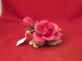 CAPIDOMONTE;BRILLIANT-RED ROSE PORCELAIN FIGURINE - $20.00